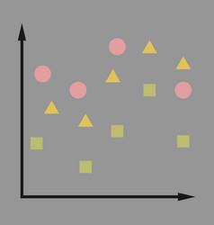 Flat icon on stylish background geometric chart vector