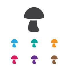 Of meal symbol on mushroom vector