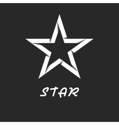 Paper star mockup black and white logo design vector image vector image