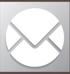 round envelope icon vector image vector image
