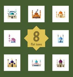 flat icon building set of structure religion vector image