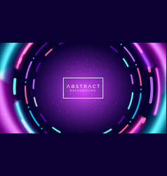 Abstract neon tunnel background vector