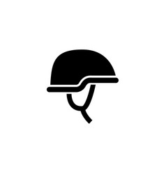 Army helmet and protective gear glyph icon vector