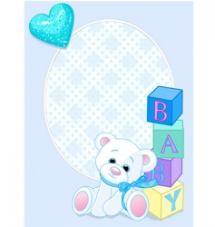baby blue arrival card vector image