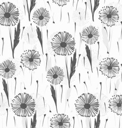 Background with dandelions vector image vector image