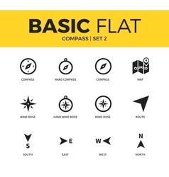 Basic set of compass icons vector