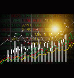 Business concept of stock market graph background vector
