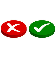 buttons input output rejected approved vector image