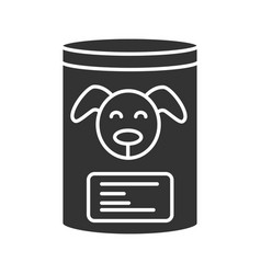 canned dog food glyph icon vector image