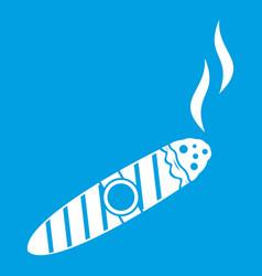 cigar icon white vector image