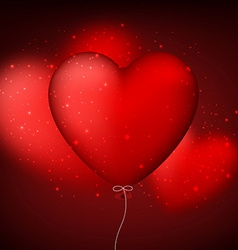 Classical red balloon heart background vector