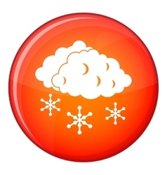 Clouds and snow icon flat style vector