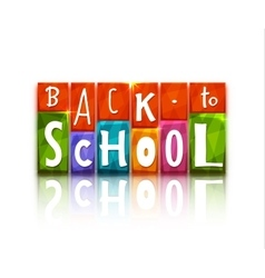 Color blocks with back to school text vector
