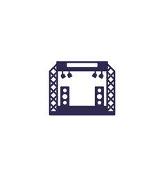 concert stage icon on white vector image