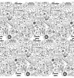 Create your Garden Seamless Pattern vector image