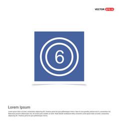 cricket 6 icon - blue photo frame vector image