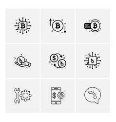 Crypto currency bit coin ic money whatsapp vector