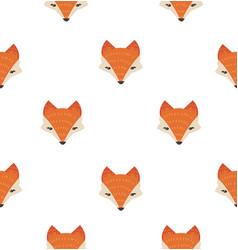 cute fox head seamless pattern vector image
