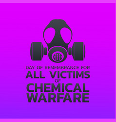 Day of remembrance for all victims of chemical vector