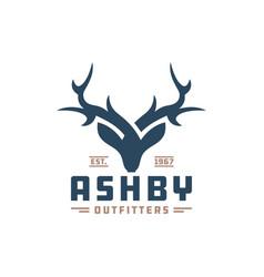 Deer animal head logo vector