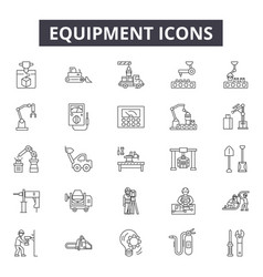 equipment line icons for web and mobile design vector image