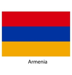 Flag of the country armenia vector