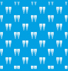flippers pattern seamless blue vector image