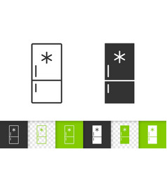 fridge simple black line icon vector image