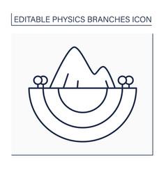 Geophysics line icon vector