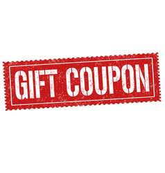 Gift coupon sign or stamp vector