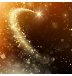 Glittering bokeh star dust template eps 10 vector