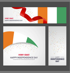 Happy cote d ivoire ivory coast independence day vector