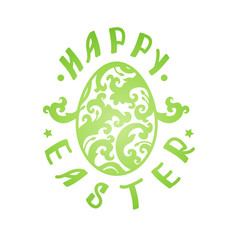 Happy easter hand sketched lettering vector
