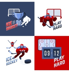 Hockey design concept vector