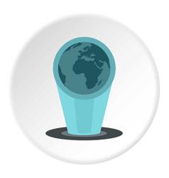 Holograma icon circle vector