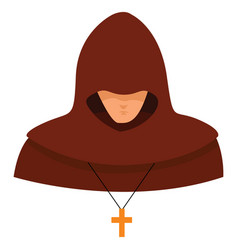 Inquisitor on white background vector