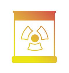 line enegy hazard power dangerous symbol vector image vector image