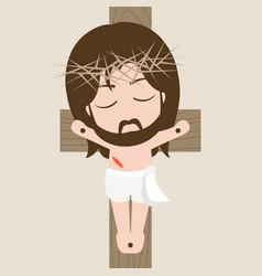 messiah on cross vector image