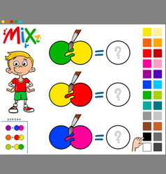 Mix colors educational game for kids vector