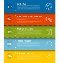 modern infographic timeline report template vector image