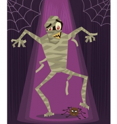 mummy Halloween vector image
