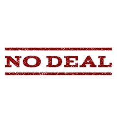 No Deal Watermark Stamp vector