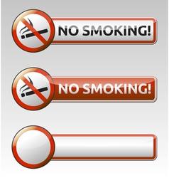 No smoking prohibition sign banner collection vector