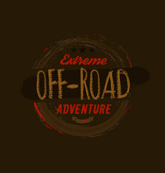 Off-road logo image vector
