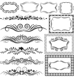 ornaments and frames vector image