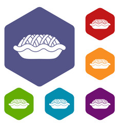 Pie icons set vector