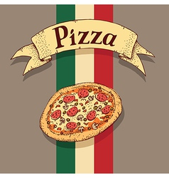 Pizza italian vector