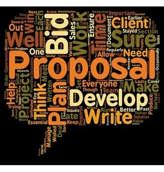 Plan Your Propsal And You Plan To Win text vector
