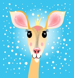 portrait of a deer vector image