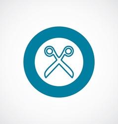 Scissors icon bold blue circle border vector